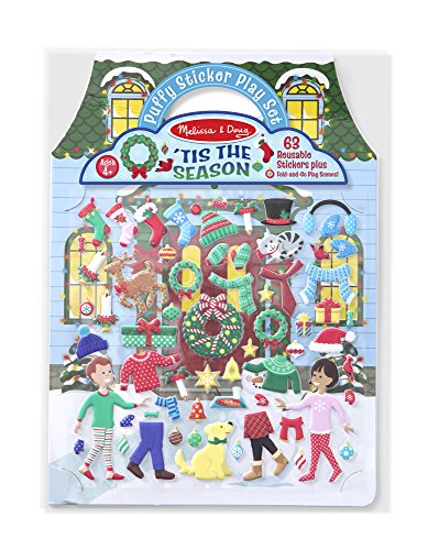 Melissa & Doug Puffy Sticker Activity Book: 'Tis the Season - 63 Reusable Stickers