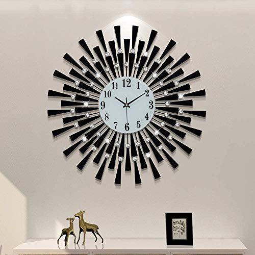 WgYoo Kristal 3D Huis Decoratie Arabisch Aantal Stil Klok Decoratie Ontwerp Gebruik Huis Keuken Slaapkamer Eetkamer…