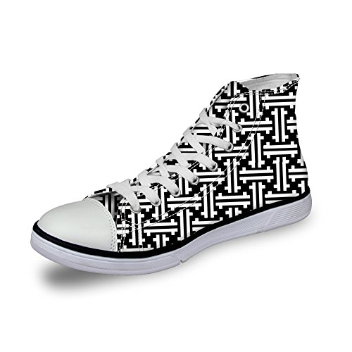 Women DESIGNS 2 Shoes Casual Top Classic U Fashion up High Sneaker FOR Men Lace Cool Skull Print qWFaTT5zv