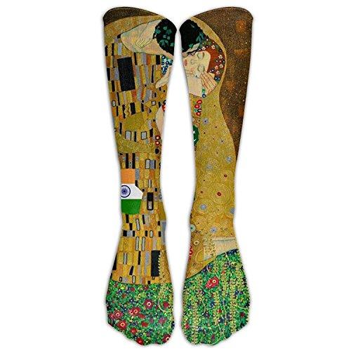 Gustav Klimt The Kiss Compression Socks For Mens & Womens Unisex Comfortable Stockings For Sports 50cm(19.6 (Klimt The Kiss Costume)