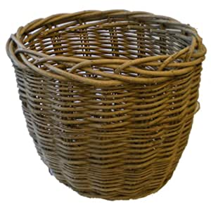 Contenedor de leña–cesta de mimbre ovalada tamaño más pequeño