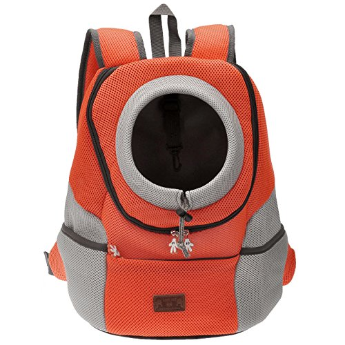 Mangostyle Pet Dog Cat Puppy Portable Airline Travel Approved Carrier Backpack bag with Breathable Mesh Adjustable Front Bag Head Out Design Double Shoulder Padded for Bike Hiking Outdoor