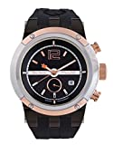 Mulco MW5-1621-105 Swiss Chronograph Black Dial Orange Case Rose Gold Bezel Watch