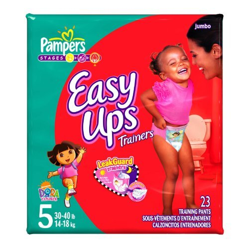 Pampers Easy Ups Diapers, Girls, Size3T-4T, 23 Count, Health Care Stuffs