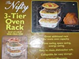 3-Tier Oven Rack -- 14.5 x 11 x 10.5 -- From Flat To Oven Ready in 4 Easy Steps by The Storage Store