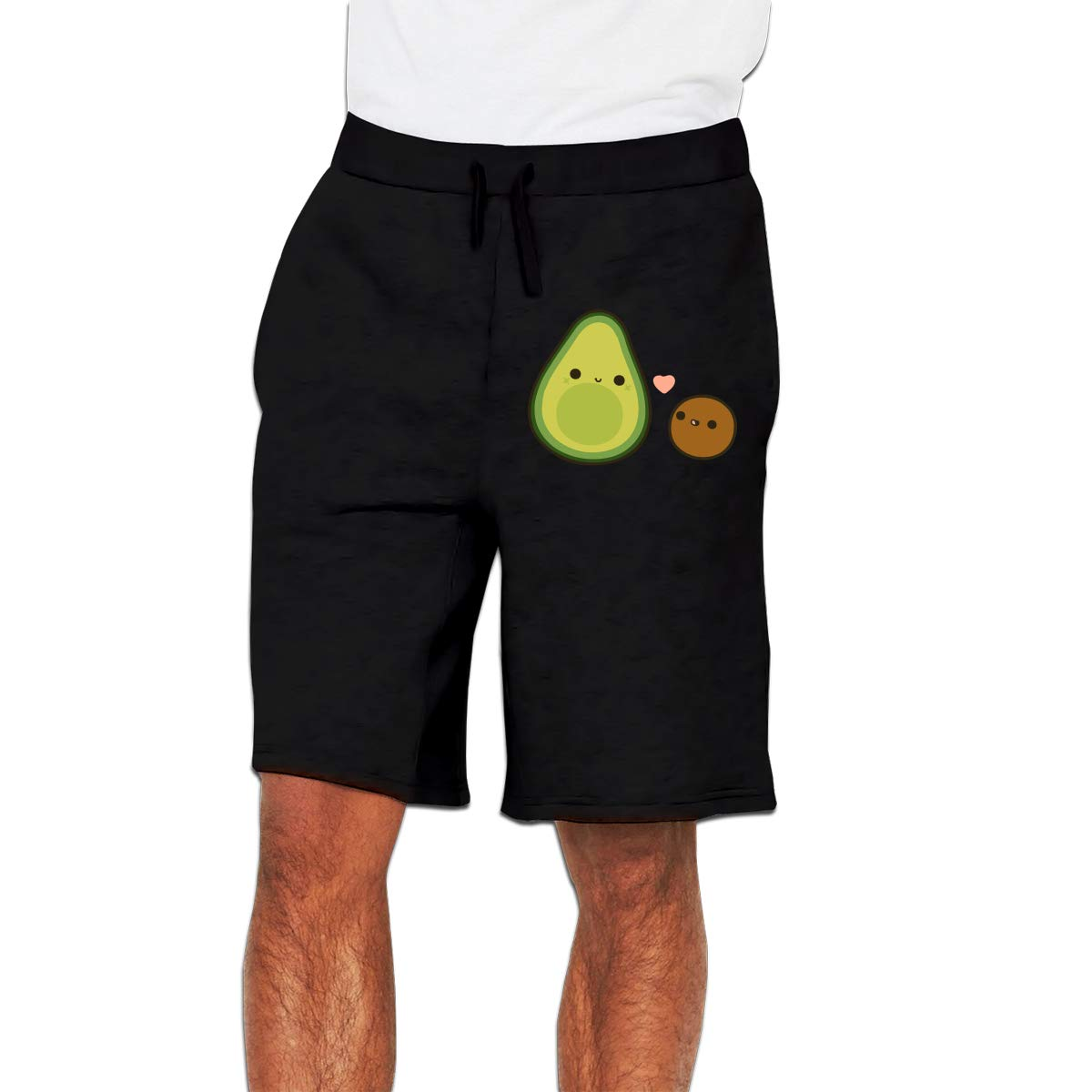 d25868752646f Nx55Ol@KU Men's Fashion Cute Avocado and Stone Jogger Sweatpant  Bodybuilding Gym Shorts Black at Amazon Men's Clothing store: