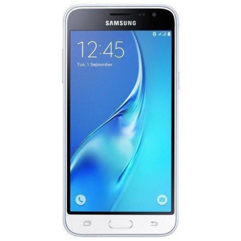 Samsung Galaxy J3 (2016) Duos SM-J320H/DS 8GB Dual SIM Unlocked GSM Smartphone - International Version, No Warranty (White) by Samsung (Image #1)