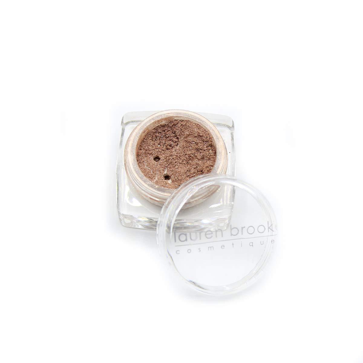 Lauren Brooke Cosmetiques Powder Eye Color, All Natural, Organic Eyeshadow Makeup (Cappuccino (Shimmer))