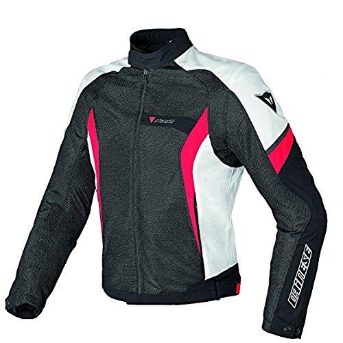 (Dainese Air Crono Mens Mesh Textile Jacket Black/White/Red 44 USA/54 Euro)