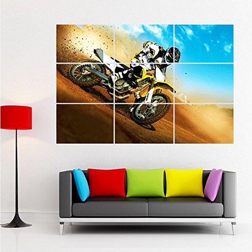 Bingirl Huge Poster Giant Print Home Decor Motorcross Dirt Bike Motorcycle Riding