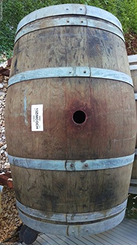 Used Wine Barrel Solid Oak From Napa Valley By Wine Barrel Creations (Wooden Rain Barrel)