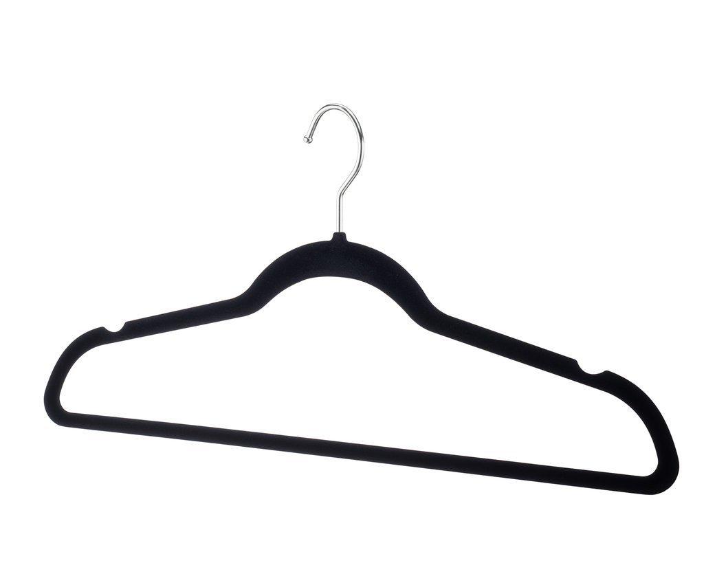 Home-It Premium Velvet Hangers Heavy duty Clothes Hook Swivel 360-Ultra Thin 50 pack Non Slip Black Suit 50 pack