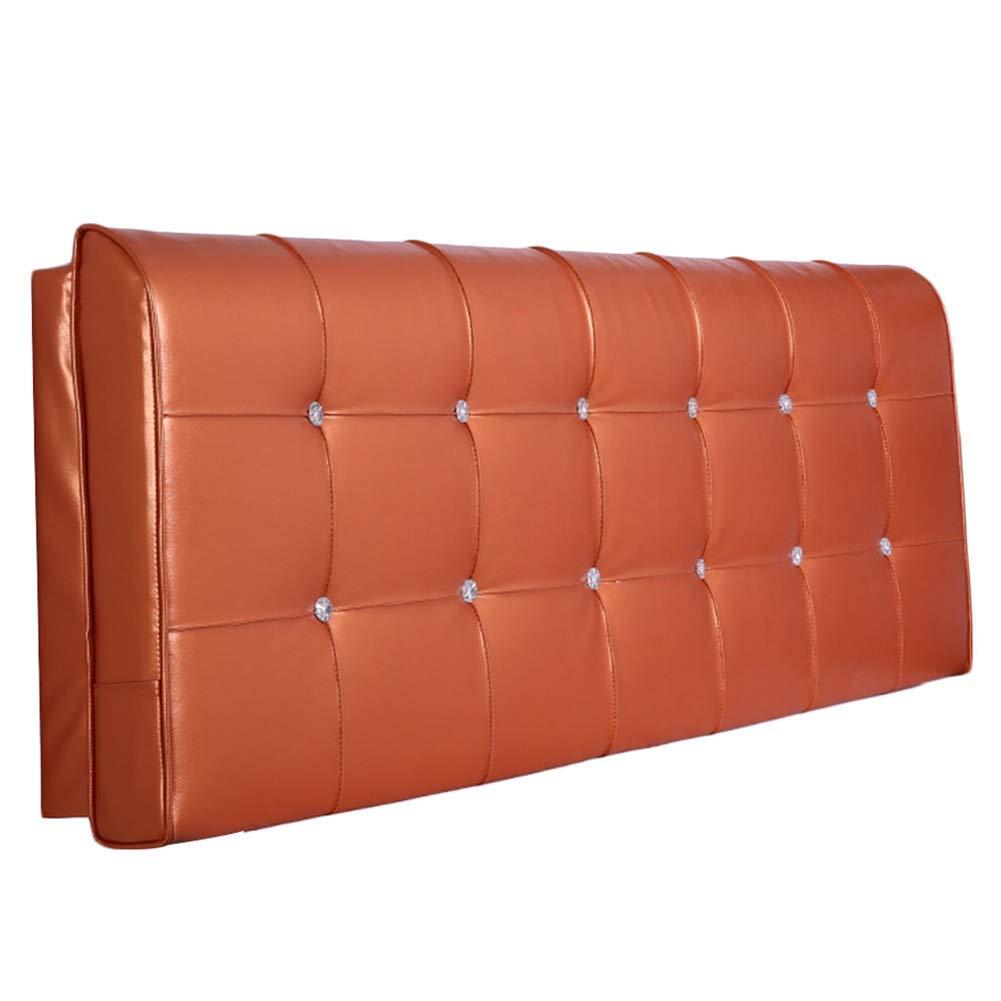 TJTJ ヘッドボードベッドサイドベッド背もたれクッション大型枕ヘッドレストソファ室内装飾腰椎色サイズ、カスタマイズされた (Color : Orange, サイズ : 120x10x58cm) B07RVLVMJK Orange 120x10x58cm