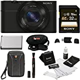 Sony DSC-RX100 Digital Camera with 32GB Premium Deluxe Accessory Bundle