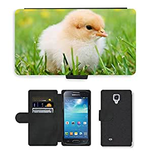 PU LEATHER case coque housse smartphone Flip bag Cover protection // M00130356 Polluelos del pollo plumaje amarillo // Samsung Galaxy S4 Mini i9190