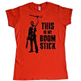 Stooble Womens's Ash - This is my Boom Stick T-Shirt