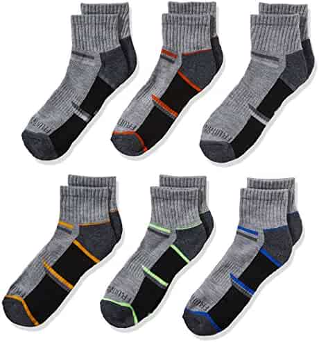 Fruit of the Loom Boys' 6-Pair Half Cushion Ankle Socks