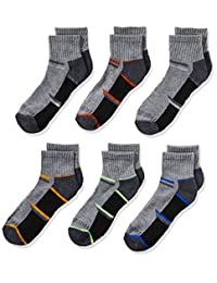 Fruit of the Loom boys 6-pair Half Cushion Ankle Socks