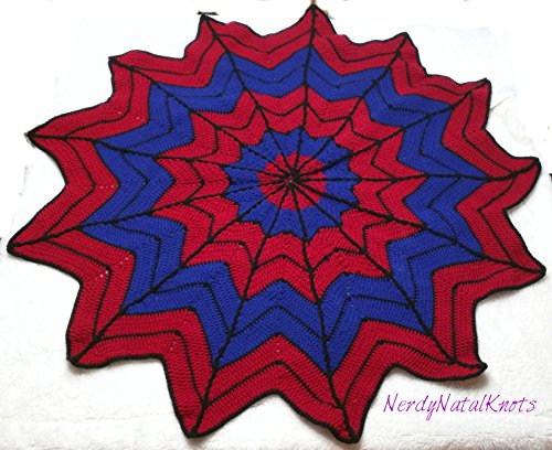 Spiderweb Blanket by Nerdy Natal Knots