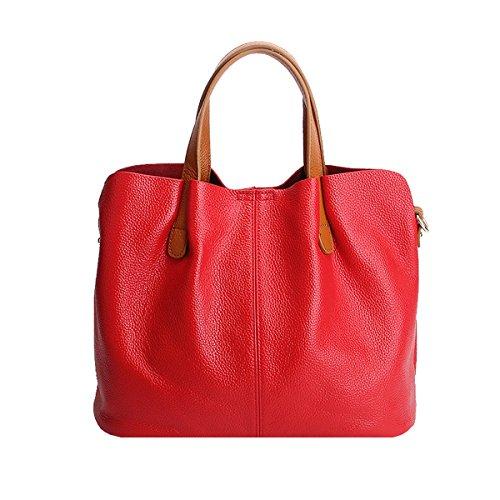 fashion M156 LF portés Sac main Sac femme en à bandoulière DISSA main Sac Rouge Sac portés épaule cuir AqHXwCC5