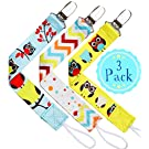 *SPECIAL PROMO* Pacifier Clip 3 Pack -Quality Colorful Owl Design Soothie Holder for Baby Boy and Girl-Universal Binky Leash for Teething Ring, Toys, Baby Blankets, Drool Bibs-Perfect Baby Shower Gift