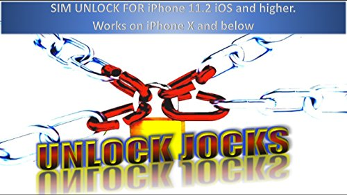 Unlock Jocks Apple iPhone Sim Carrier Card Supports iOS 11.2 and Up Beta Sprint T-Mobile Verizon AT&T Fido DoCoMo get 4G LTE X 8 8+ 7+ 7 6S+ 6S 6 6+ SE 5C 5S 5