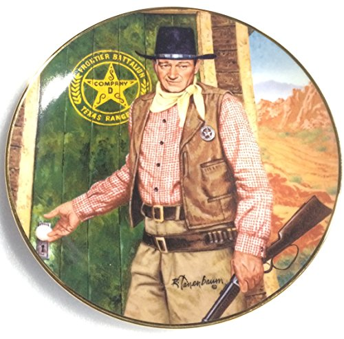 JOHN WAYNE Long Arm of the Law Franklin Mint Porcelain Collector Plate