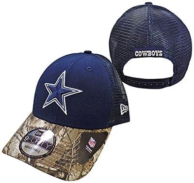 Dallas Cowboys Navy New Era 9FORTY Realtree Team Trucker Adjustable Snapback Hat / Cap by New Era
