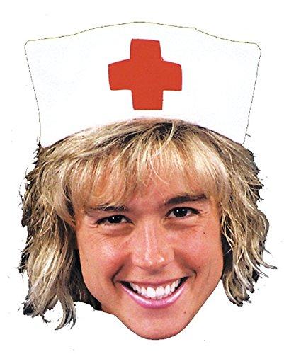 Rasta Imposta Angel Of Mercy Nurse Hat Funny Theme Party Halloween Costume -