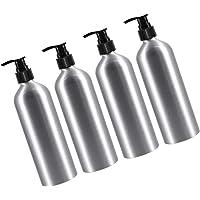 EXCEART Soap Dispenser Aluminium Bottle Lotion Dispenser for Kitchen Bathroom Bedroom Shampoo Bath Gel Cream Bottle…