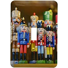 3dRose lsp_188755_1 Wooden Nutcrackers, Christmas Market, Mainz, Germany Light Switch Cover