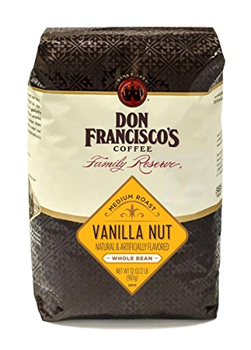 Don Francisco's Vanilla Nut, In one piece Bean 32 oz. Bag Family Reserve