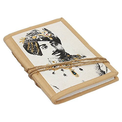 Store Indya Back To School Notebook India Maharaja Themed Personal Journal Organizer Planner Travel Book Diary with 100 Handmade Unruled Pages – 7 X 5…