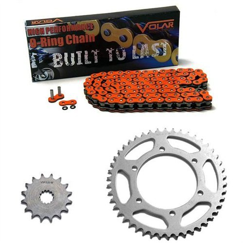 Suzuki Chain (1997-2005 Suzuki Bandit 1200 GSF1200S O-Ring Chain and Sprocket Kit - Orange)
