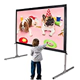 Cloud Mountain 100'' 16:9 HD Projector Screen 4K Movie Theater Ready Portable Foldaway Projector Screen Front Projection