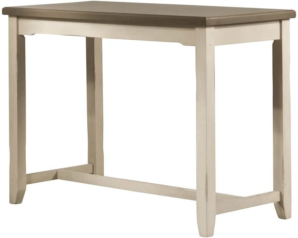 Hillsdale Furniture Hillsdale Clarion Side, Distressed Gray/Sea White Counter Height Table