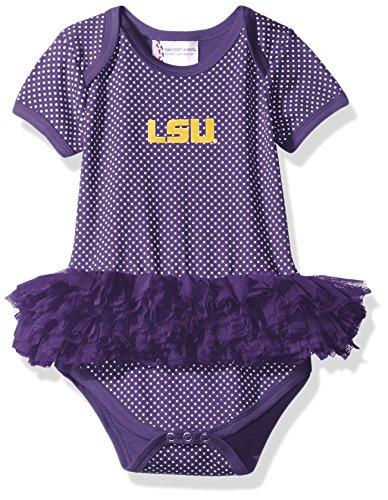 NCAA LSU Tigers Children Girls Pin Dot Tutu Creeper,6 (Lsu Tigers Pins)