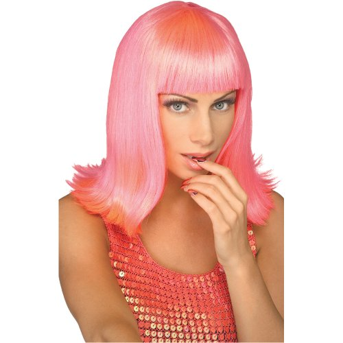 Rubie's Passion Pop Star Wig, Pink, One Size