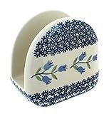 asd cookware - Blue Rose Polish Pottery Tulip Napkin Holder