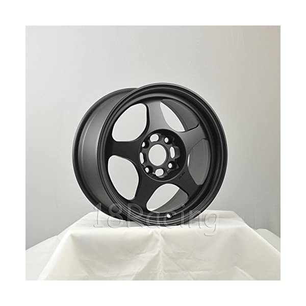1-PC-ROTA-SLIPSTREAM-WHEELS-15X65-PCD4X100-OFFSET40-HB671-FLAT-BLACK