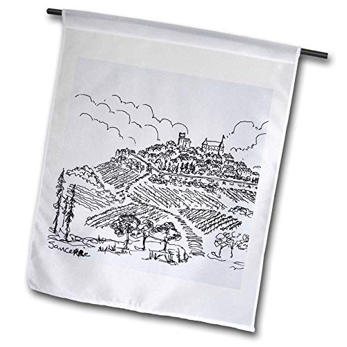 Vineyards Loire Valley - 3dRose Danita Delimont - France - Walled City of Sancerre Surrounded by Vineyards, Loire Valley, France - 18 x 27 inch Garden Flag (fl_313138_2)