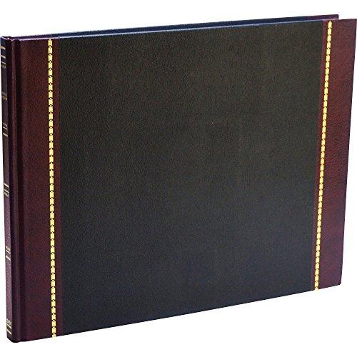 Wilson Jones - Detailed Visitor Register Book, Black Cover, 208 Pages, 9 1/2 x 12 1/2 S491 (DMi EA by Wilson Jones (Detailed Visitor Register Book)