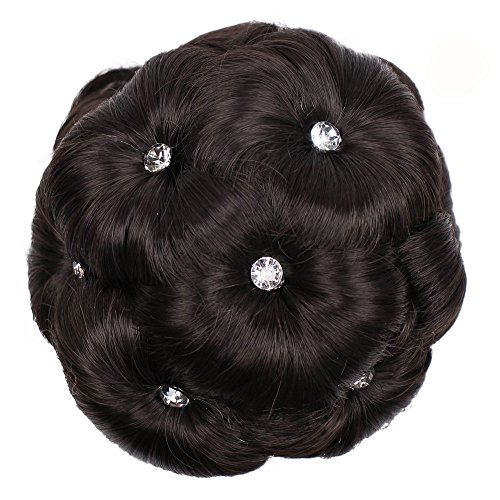 FORUU Wigs, 2019 Valentine's Day Surprise Best Gift For Girlfriend Lover Wife Party Under 5 Free delivery Female Wig Hair Ring Curly Bride Makeup Diamond Bun Flowers Chignon Hairpiece -