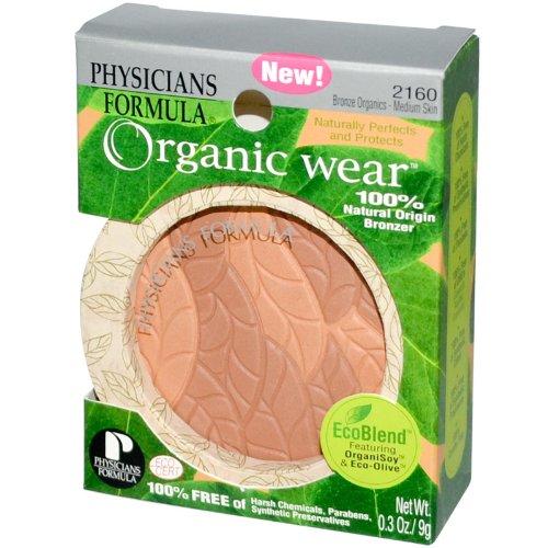 Physicians Formula Organic Wear 100% Natural Bronzer, Bronze Organics-medium Skin Tones, 0.3-Ounces