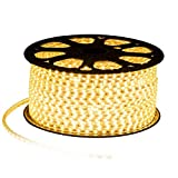MODOAO LED Strip Light 32.8ft/10M Waterproof SMD 5050 Warm White for Christmas Thanksgiving Lighting Decoration