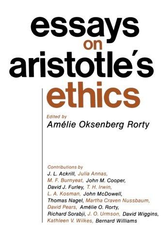 Essays on Aristotle's Ethics
