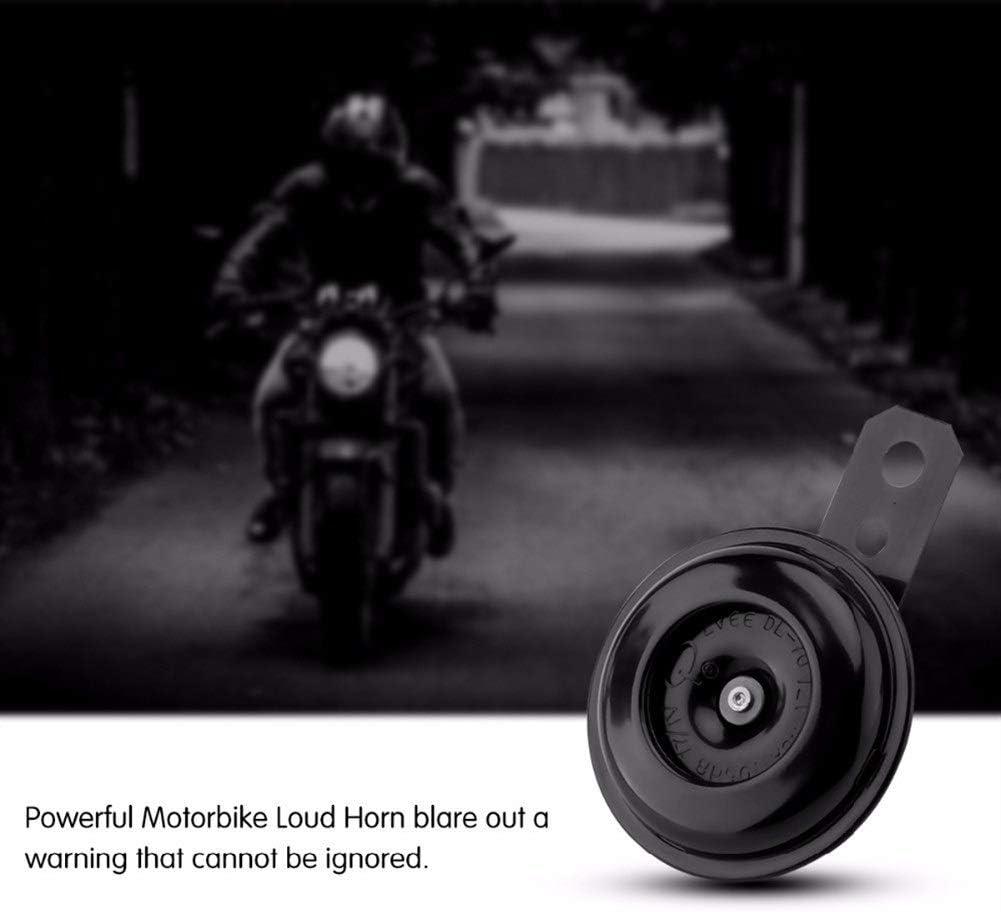 Bocina Moderna minimalista Moda redondo impermeable Loud bici de la suciedad altavoces de bocina 12V 1.5A 105dB motocicleta el/éctrica Cuerno Kit for ciclomotor scooter bocina coche