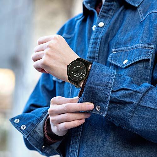 Men's Watch Fashion Quartz Watch for Men Sporty Waterproof Watch with Leather Strap Calendar Date Luminous Wrist Watch 44mm Casual Classic Gents Gift