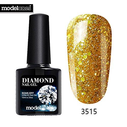 Hot Sale Diamond Nail Gel Blue Color Glitter UV Nail Polish