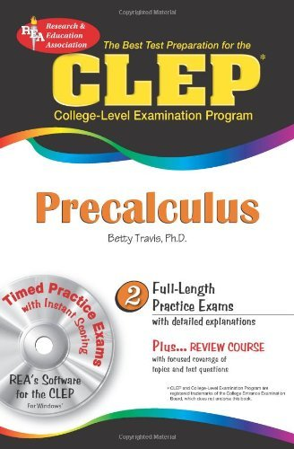 CLEP?? Precalculus w/CD (CLEP Test Preparation) by Betty Travis PhD (2008-08-15)